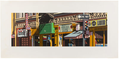 Robert Cottingham, 'Barrera-Rosa's (a suite of three works)', 1986