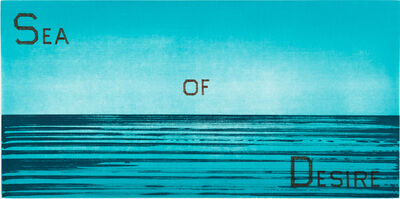 Ed Ruscha, 'Sea of Desire', 1983