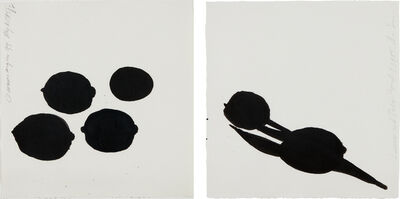 Donald Sultan, 'Lemon and Tulip; and Lemons and an Egg', 1985