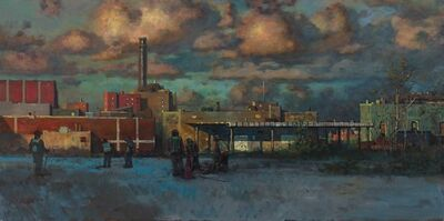Derek Buckner, 'Evening Sky Over Factory'