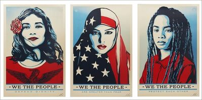 Shepard Fairey, 'We the People, Suite of Three (3) Hand Signed Lithographs', 2017