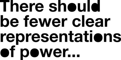 Liam Gillick, 'There should be fewer clear representations of power…', 2018