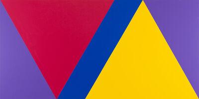 Claude Tousignant, 'Variation 59 : série de cinq tableaux à structure identique, symétrique et réversible, trouvée par hasard #4', 2019