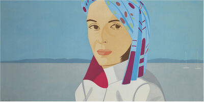 Alex Katz, 'Ada in Blue Hat', 2004