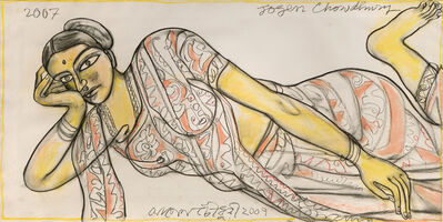 Jogen Chowdhury, 'Reclining Woman', 2007