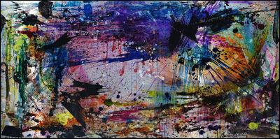 Cédric Bouteiller, 'Abstrait violet rose', 2019