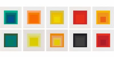 Josef Albers, 'Homage to the Square: Edition Keller Ia-Ik', 1970
