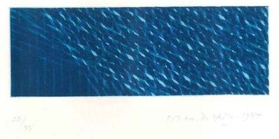 Piero Dorazio, 'Blue Composition', 1984