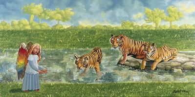 Isabel Villar, 'Tres felices tigres', 2020