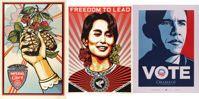 Shepard Fairey (OBEY), 'Imperial Glory, Aung San Suu Kyi and Vote'