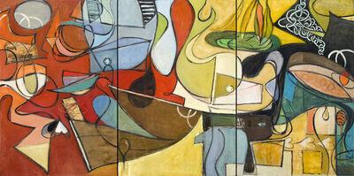 Leslie Allen, 'Poker Time, Triptych', 2015