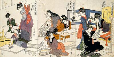 Kitagawa Utamaro, 'Ukiyo-e Print Workshop', 1780-1800