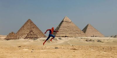 "David Kassman, '""The Spiderman Project"" Giza Pyramid', 2010"
