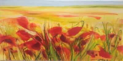 Bettina Mauel, 'Field of Poppies', 2018