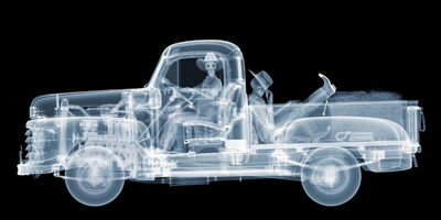 Nick Veasey, '1948 Mercury Cowboys ', 2019