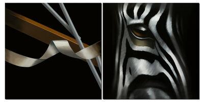 Norma Bessières, 'Zebra 'Rupture' Diptyque', 2015