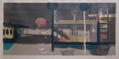 Bruno Saetti, 'Piccolo Paesaggio col Sole', 1954-1956