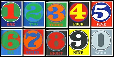 Robert Indiana, 'NUMBERS: Limited Edition Book of 10 Silkscreens, Hand Signed, Dated and Inscribed on title page', 1968