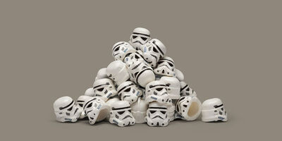 Dale May, 'Helmet Pile', 2011