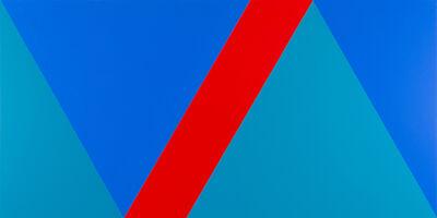 Claude Tousignant, 'Variation 59 : série de cinq tableaux à structure identique, symétrique et réversible, trouvée par hasard #3', 2019
