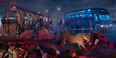 Nick Brandt, 'Bus Station with Lioness ', 2018