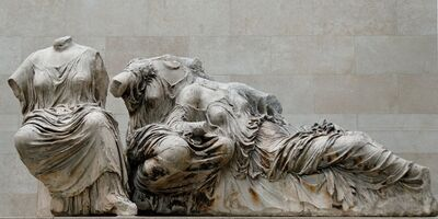 'Hestia, Dione and Aphrodite, from the east pediment of the Parthenon', ca. 447-432