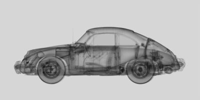 Nick Veasey, '1959 Porsche 356B Coupe'