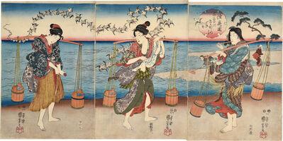 Utagawa Kuniyoshi, 'Plover Jewel River in Mutsu Province ', 1847