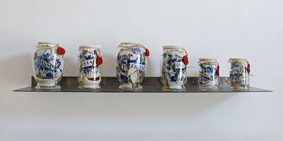 Bouke de Vries, 'Memory vessel drug jars', 2018