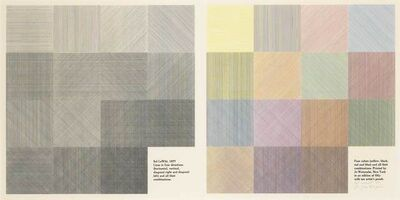 Sol LeWitt, 'Lines In Four Directions (Horizontal, Vertical, Diagonal Right And Diagonal Left) And All Their Combinations, Four Colors (Yellow, Black, Red And Blue) (K. 1978.01)', 1978