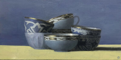 Olga Antonova, 'Blue Cups on Blue and Yellow', 2020