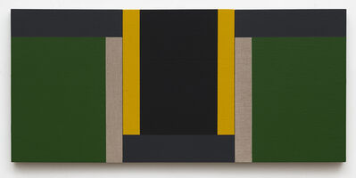Scot Heywood, 'Suzuki's Dichotomy - Green, Black, Yellow, Gray, Linen', 2020