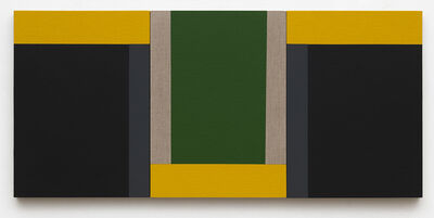 Scot Heywood, 'Suzuki's Dichotomy - Black, Green, Yellow, Gray, Linen', 2020