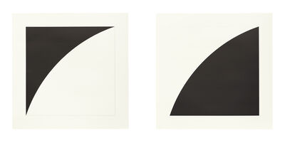 Ellsworth Kelly, 'White Curve I (Black Curve I) and Black Curve I (White Curve I)', 1973