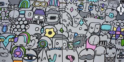 Kev Munday, 'Pastel Pop Crowd', 2018