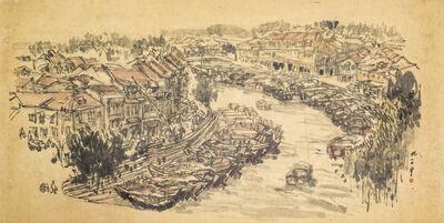 Lim Tze Peng, 'View of Singapore Rive', ca. 1970-1980s