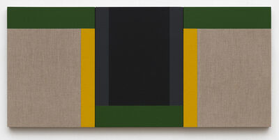 Scot Heywood, 'Suzuki's Dichotomy - Linen, Black, Yellow, Green, Gray', 2020