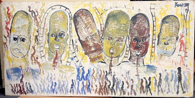Purvis Young, 'Purvis Young, Transcendence, Acrylic on Wood, 1989-1999', ca. 1989-1999