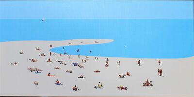 Natan Elkanovich, 'Beach Mood 5 - landscape painting', 2018