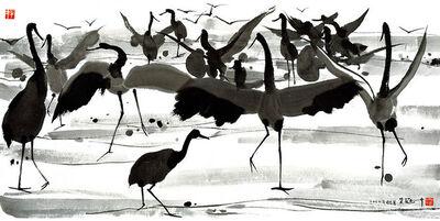 Wu Guanzhong, 'Cranes', 2013-2018