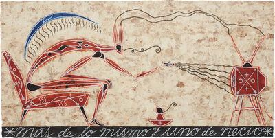José Bedia, 'Más de lo mismo y uno de necio', 2000