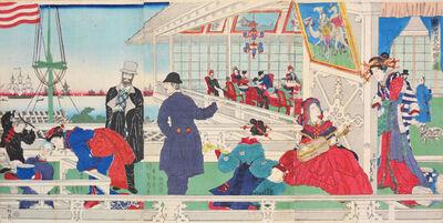 Utagawa Sadahide, 'Foreign Merchantile Mansion in Yokohama', 1861