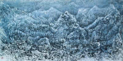 Liu Kuo-sung 刘国松, 'The Thawing Snow Mountain', 2009