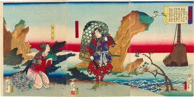 Tsukioka Yoshitoshi, 'Eight Views of Warriors' Fine Tales: Returning Sails from the Ryukyu Islands', 1867