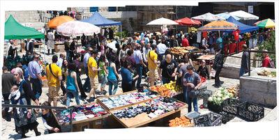 Bill Aron, 'Market Day, Outside Damascus Gate, Jerusalem'