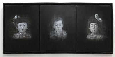 Emiko Aida, 'Emerging-three girls', 2016