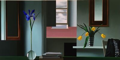 Bruce Cohen, 'Untitled, Interior with Iris, Tulips and Pink Kitchen', 2017
