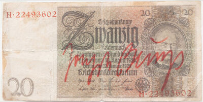 Joseph Beuys, 'Untitled (signed Reichsmark)', After 1979