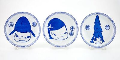 Yoshitomo Nara, 'Life is Only One Plates (Three)', 2015