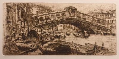 Otto Henry Bacher, 'Rialto Bridge and Grand Canal, Venice', 1880
